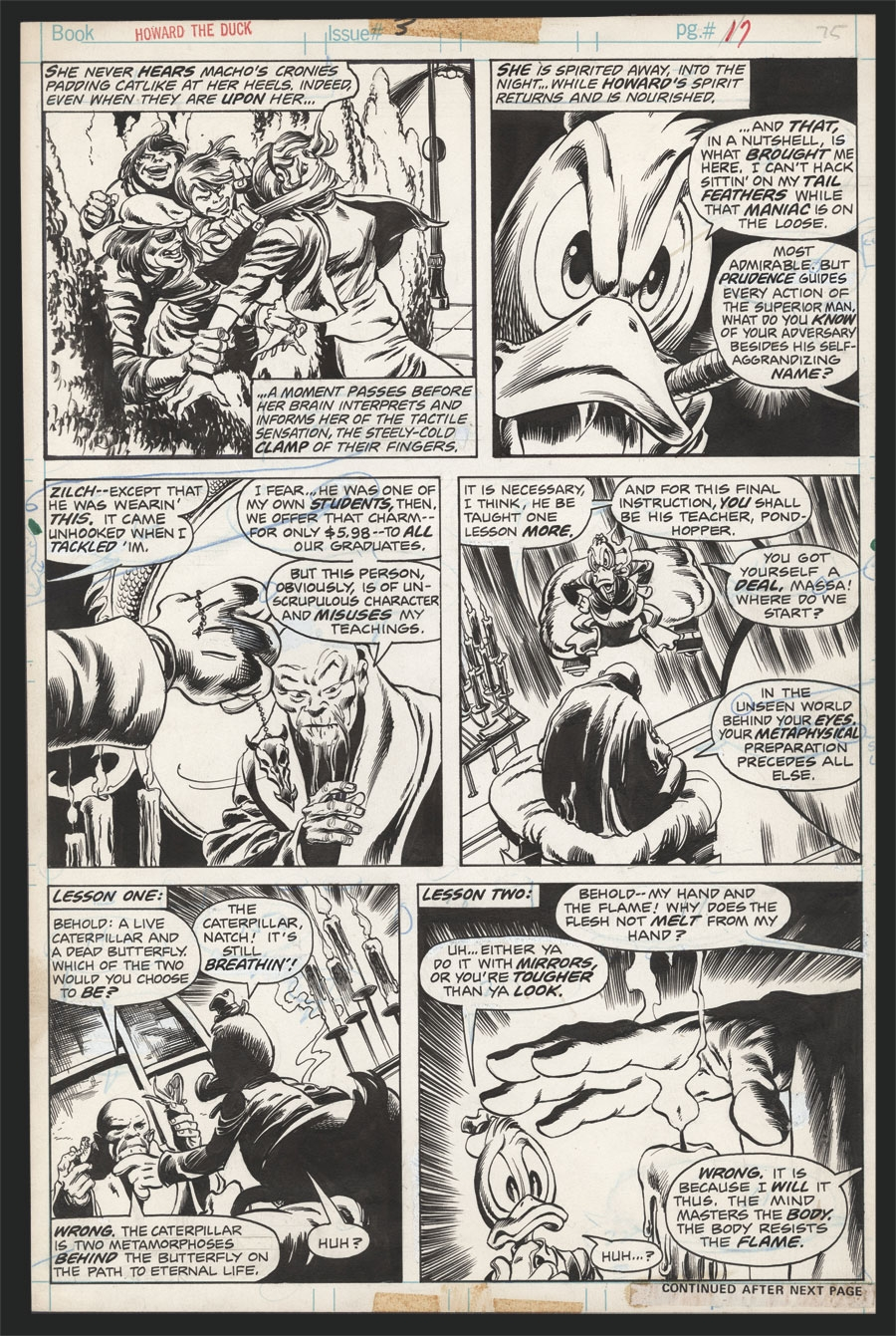 Howard The Duck #3 Pg 17 by John Buscema and Steve Leialoha, in