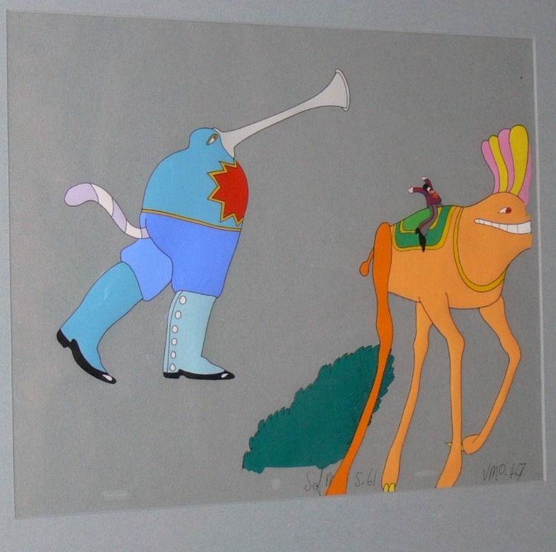 online store 8dea7 ab104 Yellow Submarine animation cel - Ringo in Sea of Monsters with Vacuum  Cleaner Monster Comic Art