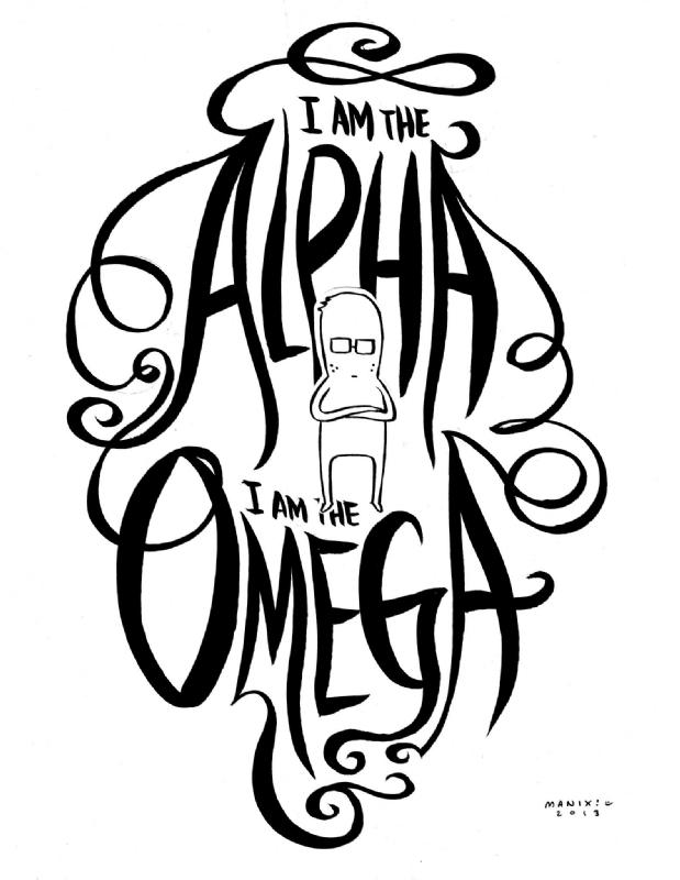 Alpha and omega art