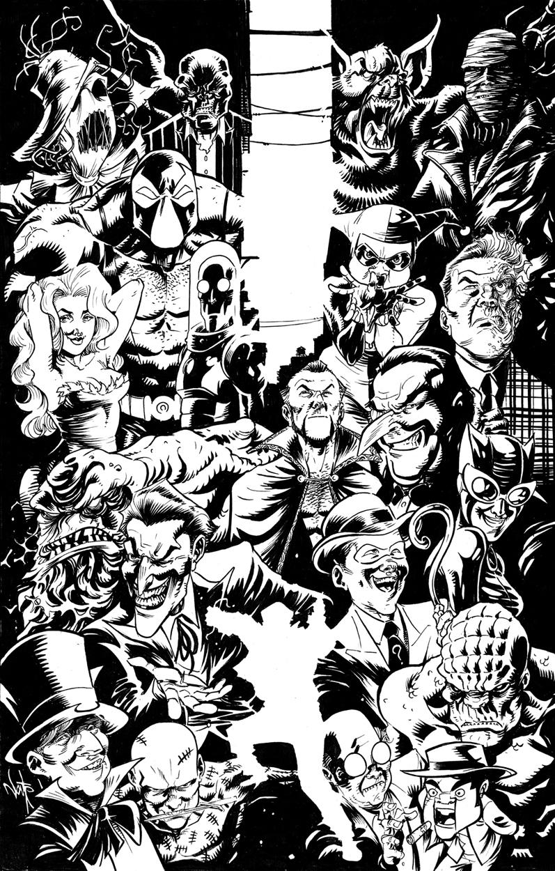 Batman Villains By Nate Stockman In Travis Ellisors Miscellaneous