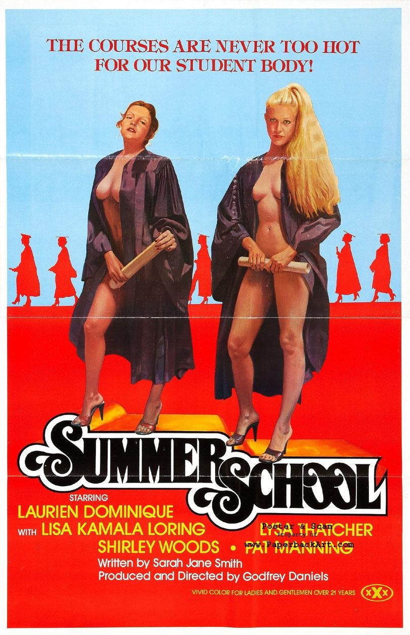 Summer School 1979 - Vintage Xxx Porn Movie Poster Art, In -8830