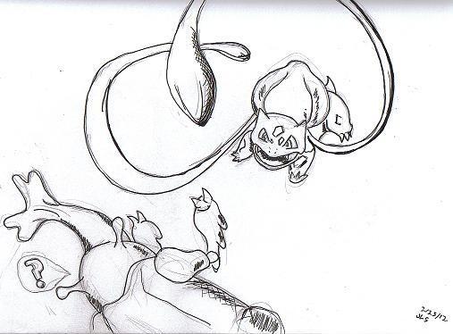 Bulbasaur Vs Heracross Pokemon By Jason L Grossman