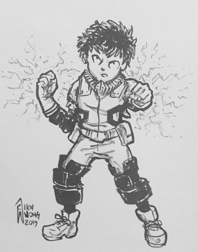 Izuku Midoriya Deku My Hero Academia By Ken Wong Mocca