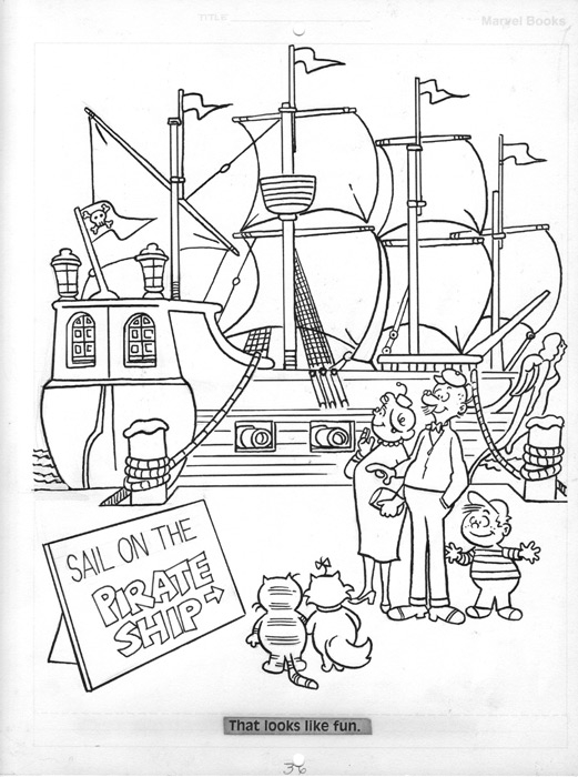 Marvel Comics Coloring Book HEATHCLIFF THE PIRATE, in a collection\'s ...