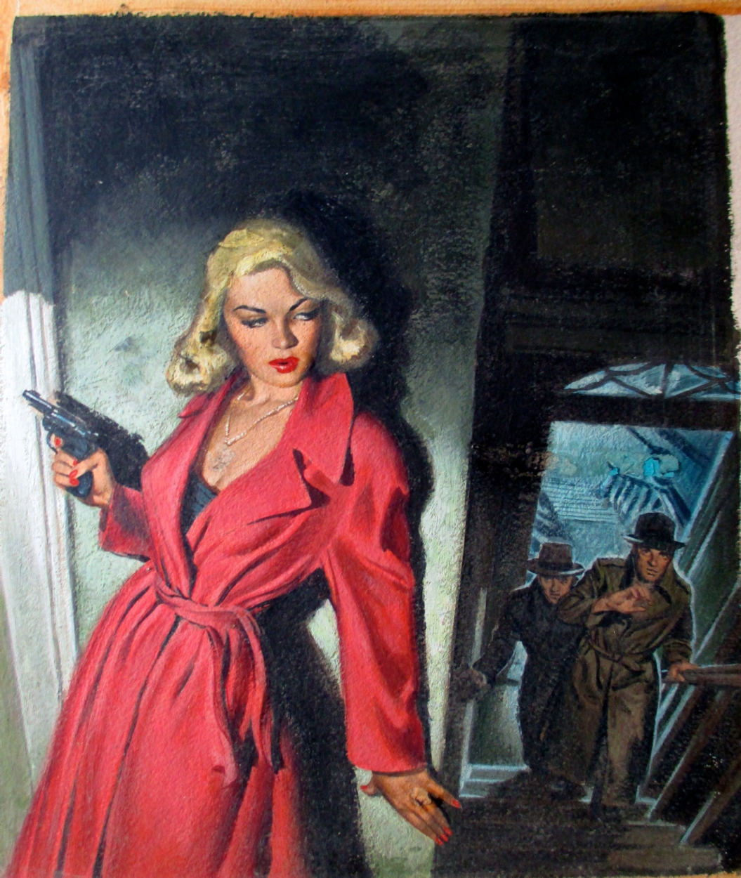 Book Cover Art Gallery : Sexy vintage paperback cover painting by lawrence hoffman
