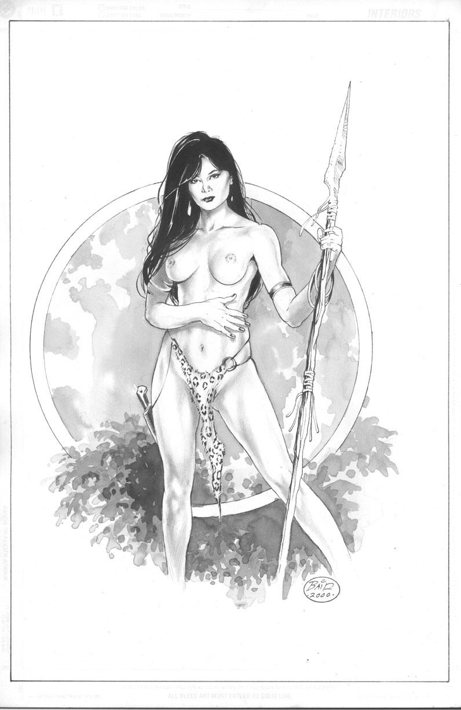 Jungle Girl-( Playboy Playmate-Lisa Marie Scott )-(11x17 pinup)