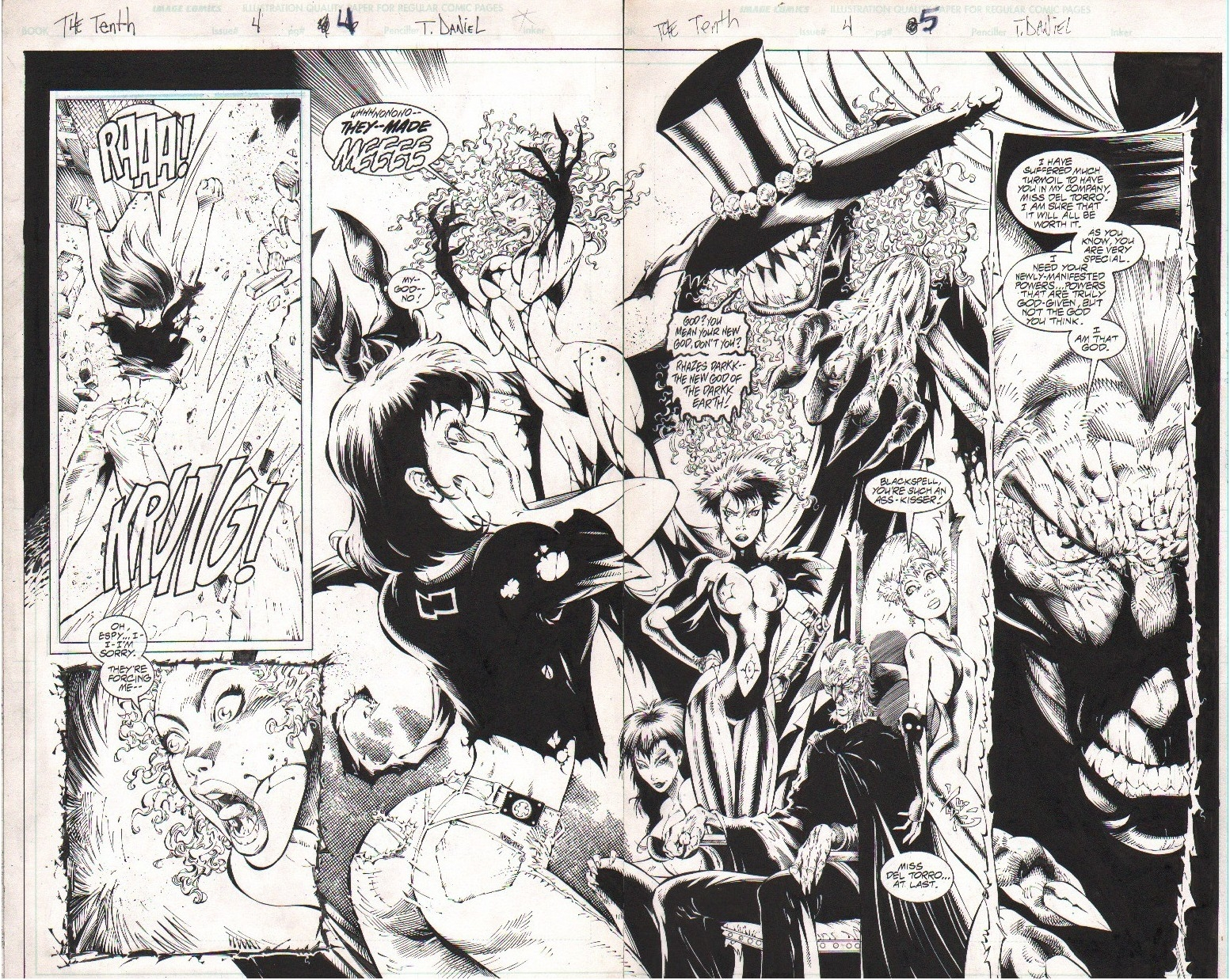 The Tenth # 4 pgs 4 & 5 by Tony Daniel, in Danny Morales's