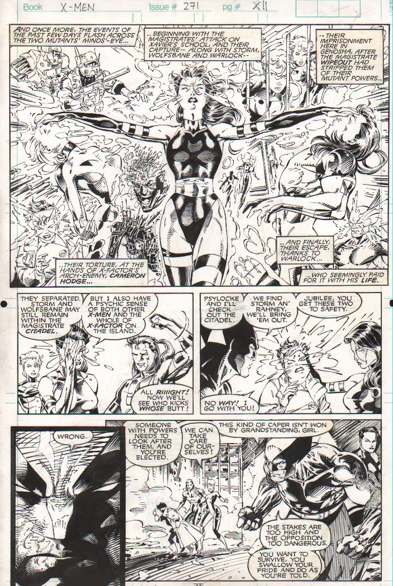 Uncanny X-Men #271 pg 11 - AWESOME Psylocke by Jim Lee, in