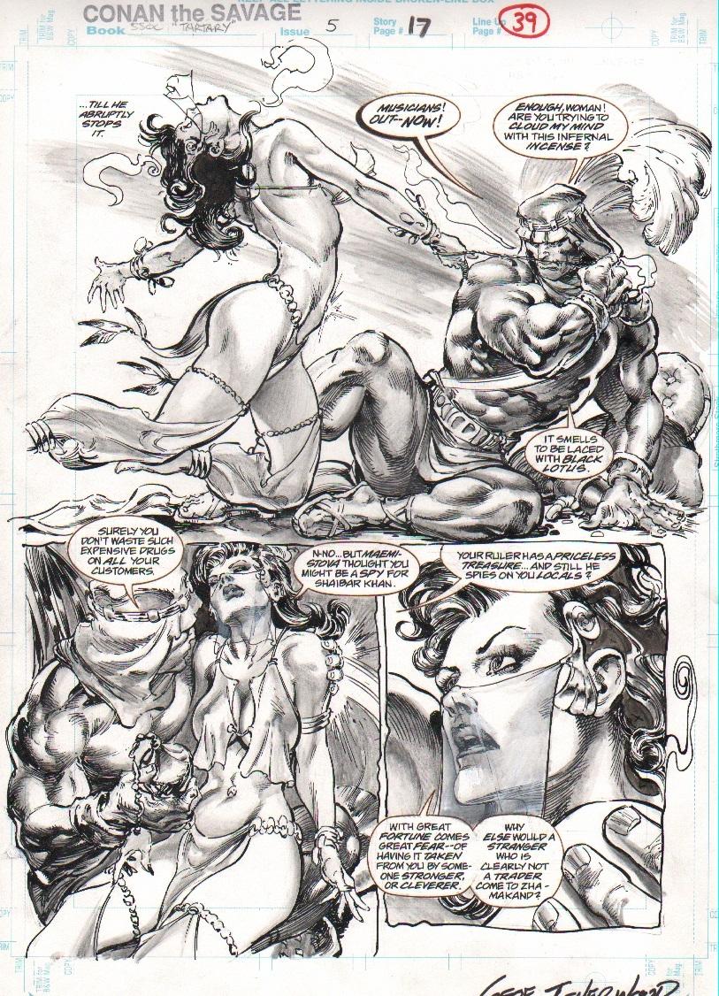 Conan the Savage #5 pg 17 - SEXY! Comic Art