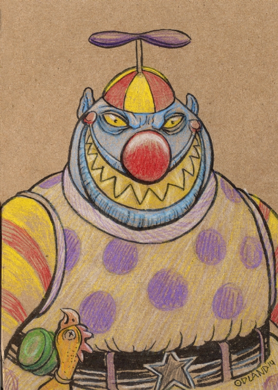 Nightmare Before Christmas Clown With A Tear Away Face.Clown With The Tear Away Face From Nightmare Before