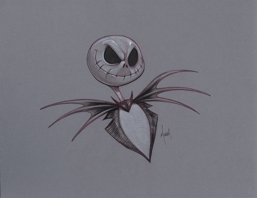 Tim Burton Nightmare Before Christmas Artwork.Jack Skellington From Tim Burton S Nightmare Before