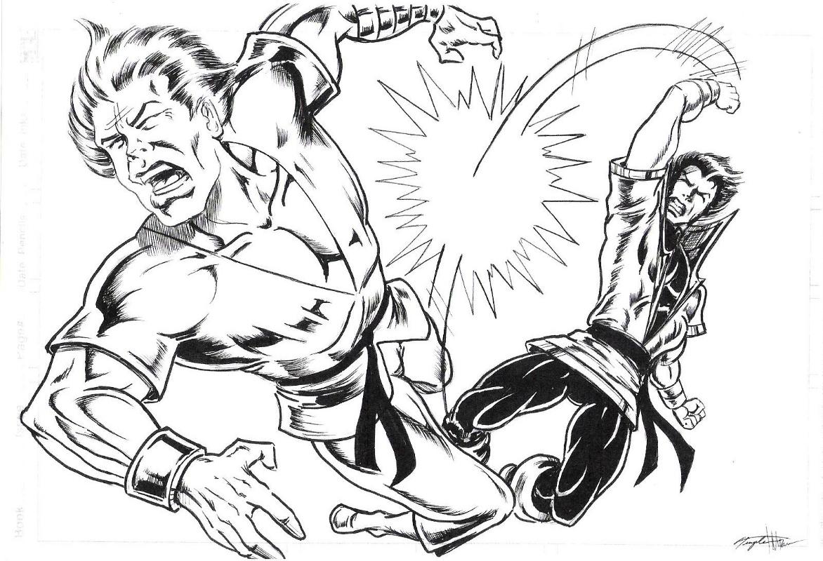 Karate Kid vs  Richard Dragon, Kung Fu Fighter , in Peter Temple's