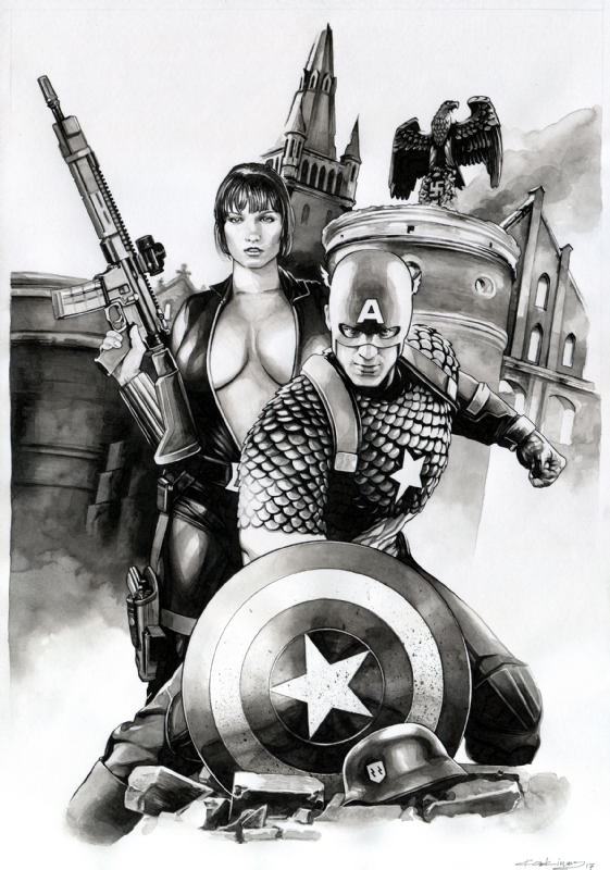 Captain America Black Widow Team Up Sold In Dimitris