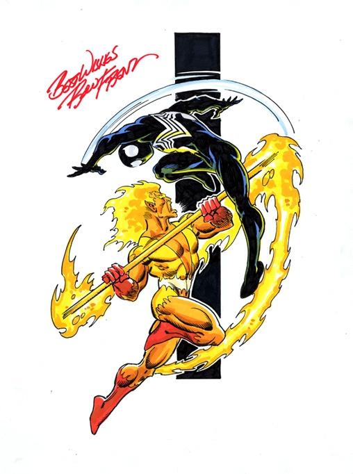 spider man vs firelord in steven spelt s ron frenz spiderman