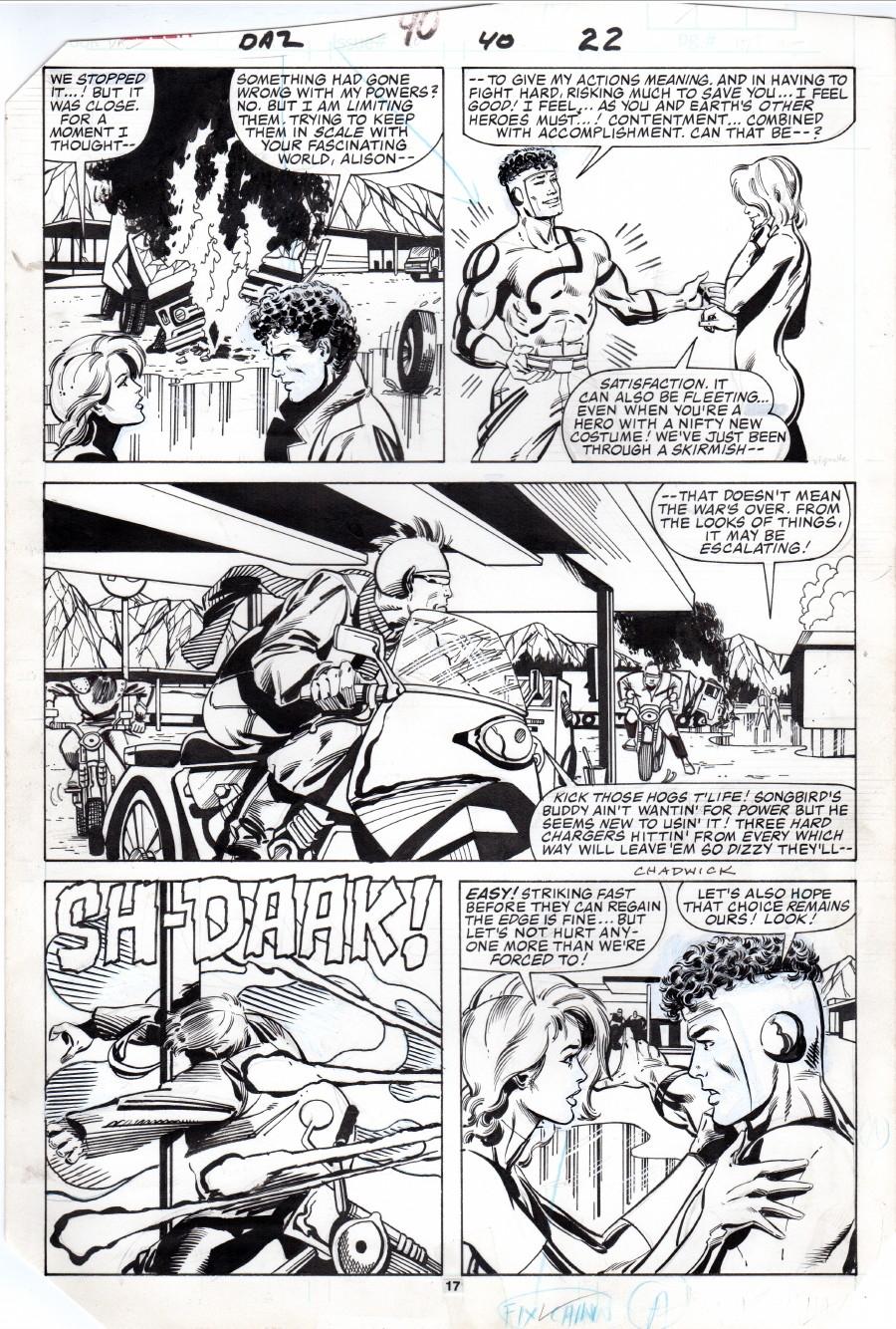 Dazzler 40, page 17, in Lee Benaka's Dazzler 38-42 (Paul