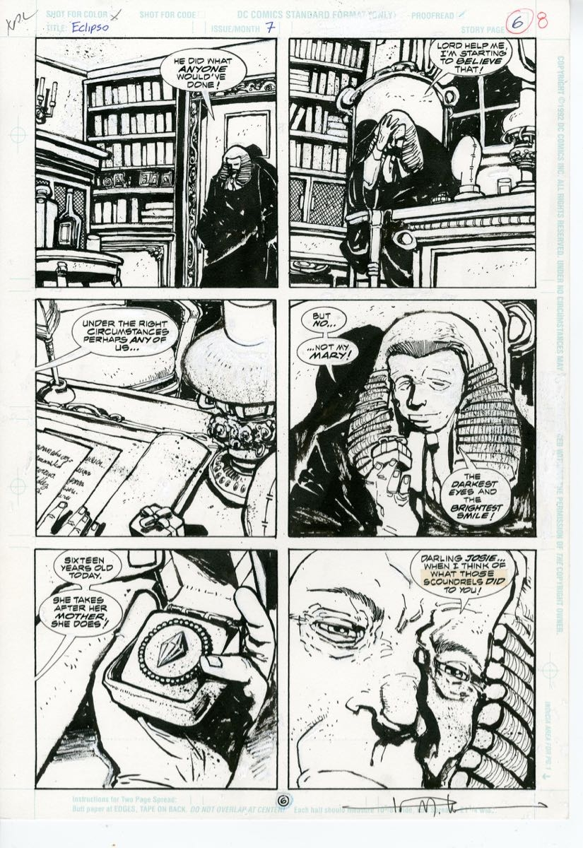 ECLIPSO #7 page 6 (1993) Ted McKeever & Keith Giffen FOR SALE, in