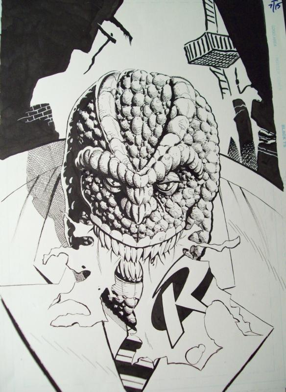 Robin 71 Cover Killer Croc Rick Burchett