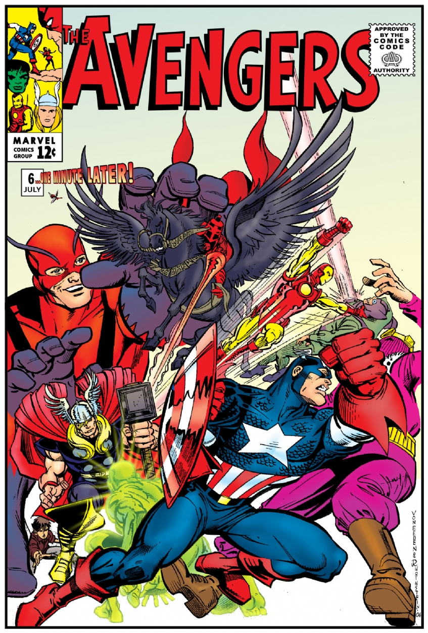Avengers 6 Cover One Minute Later Comic Art