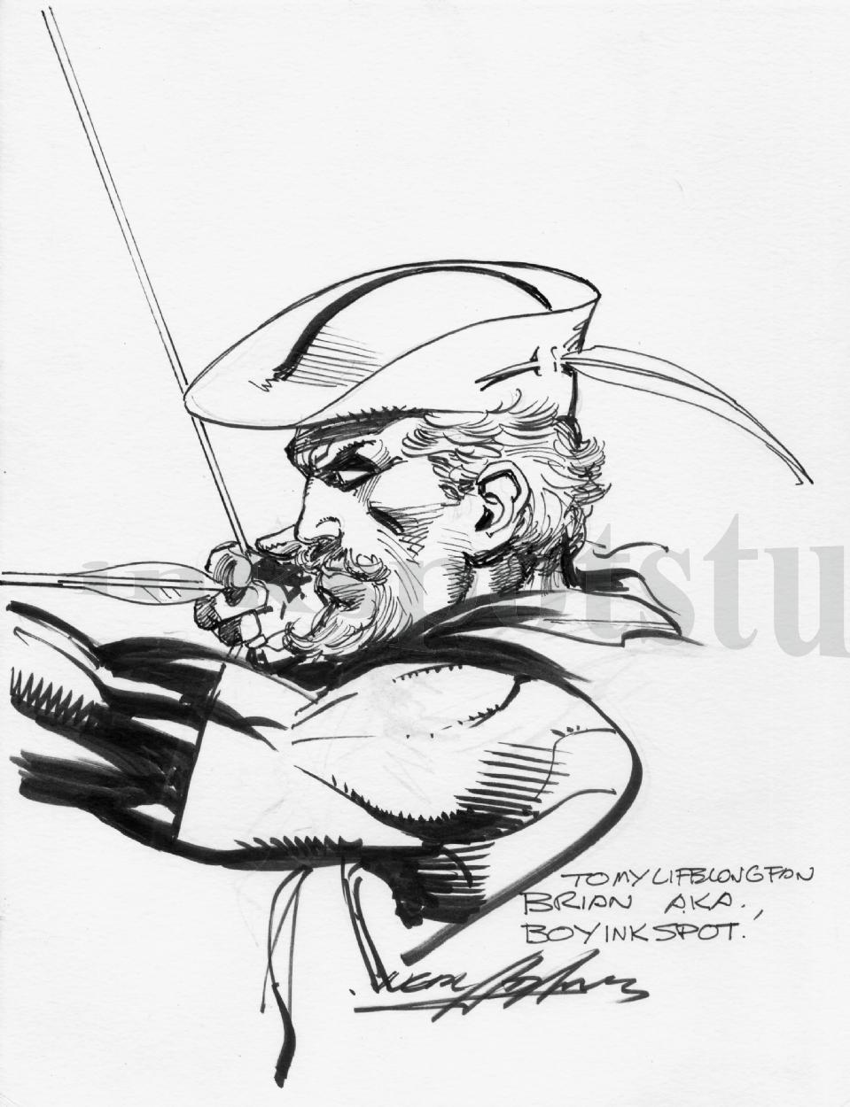 Permanent Sketch Book: Neal Adams Green Arrow Sketch, In Brian G. McKenna's