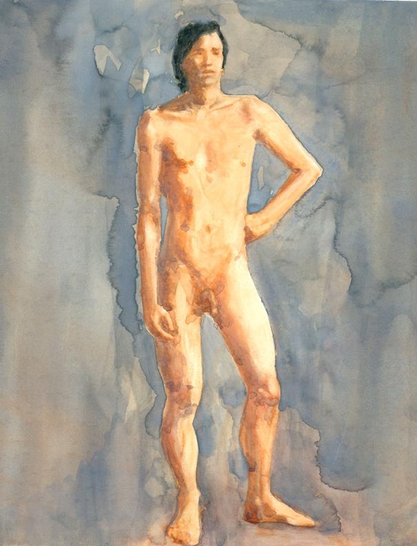 Nude Male, In John Painzs My Class Paintings Comic Art -2420
