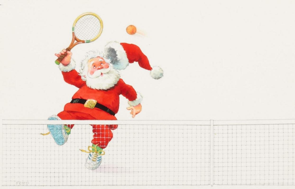 Christmas Greetings Card Illustration, in Thomas Vanderstappen\'s ...