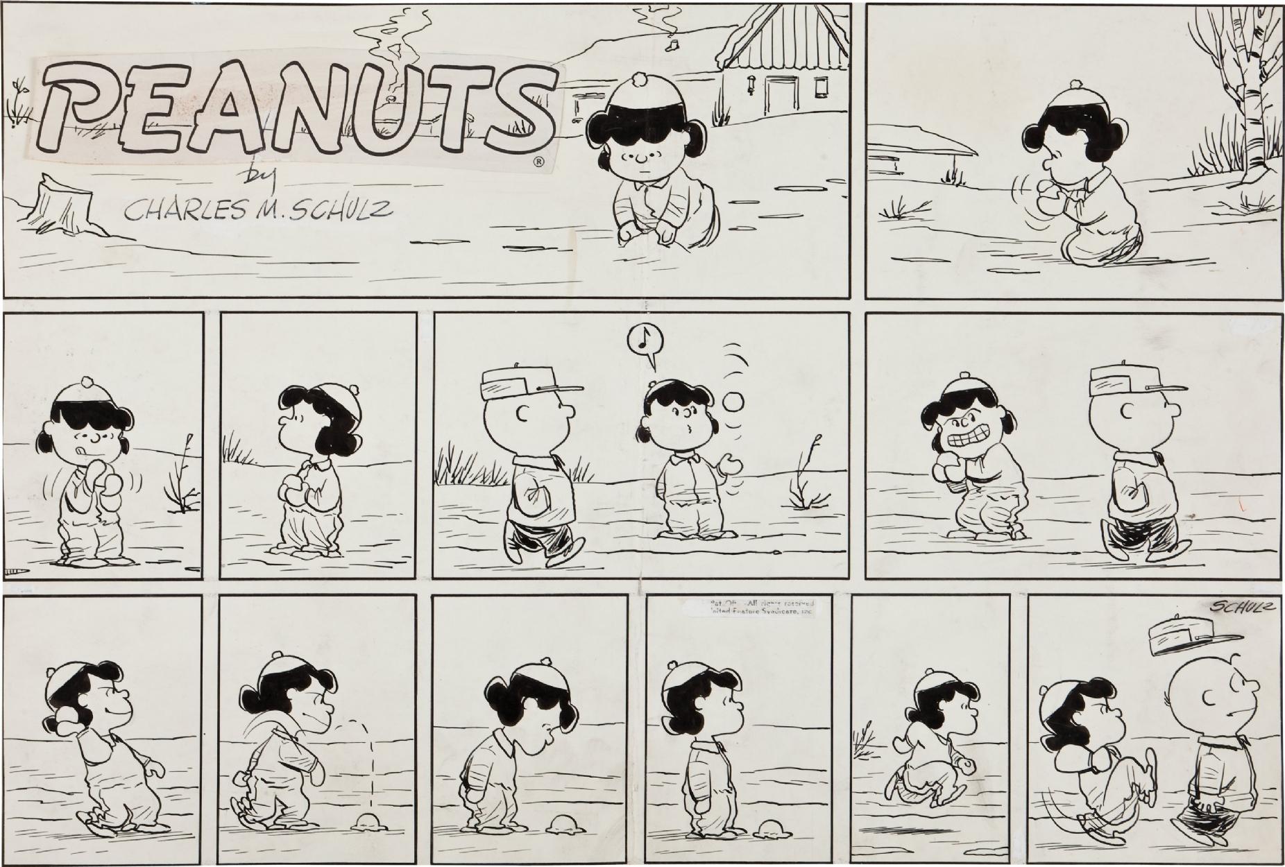 Schulz SundayIn Rob Charles Vintage 1959 Peanuts Wordless Okn0wP