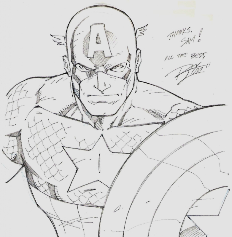 captain america ron lim in sam catoe s captain america comic art