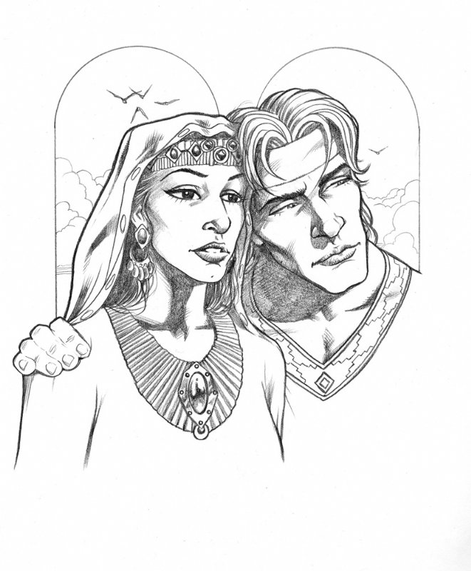Justinian And Theodora Drawing
