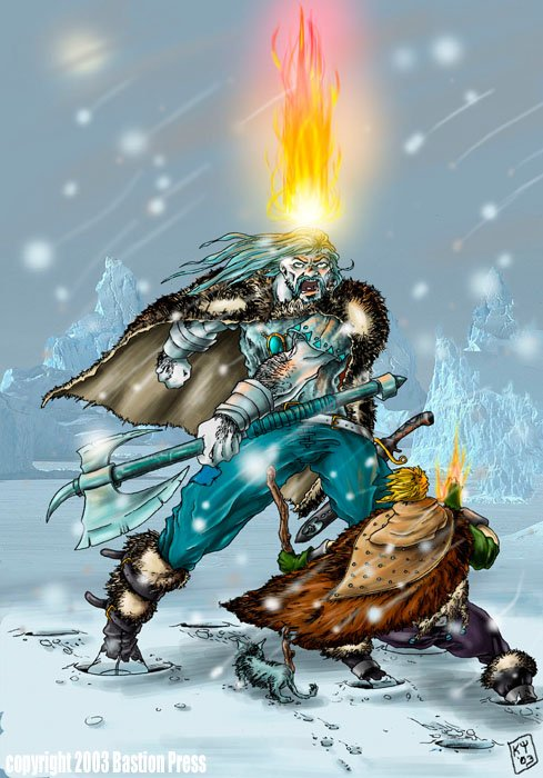 Fantasy Art Fire Druid