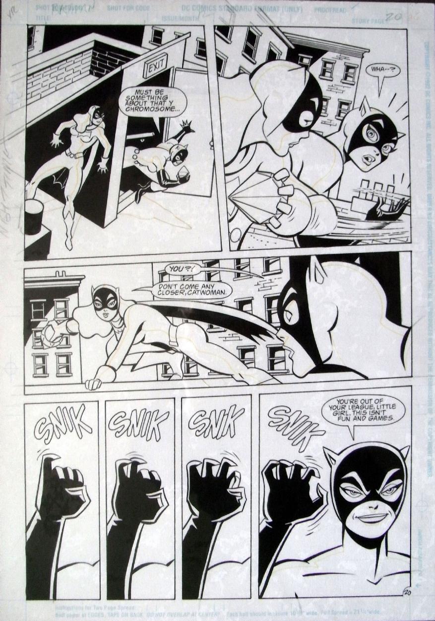 dcd24913ebd0e2 Mike Parobeck - Catwoman v Batgirl! Comic Art