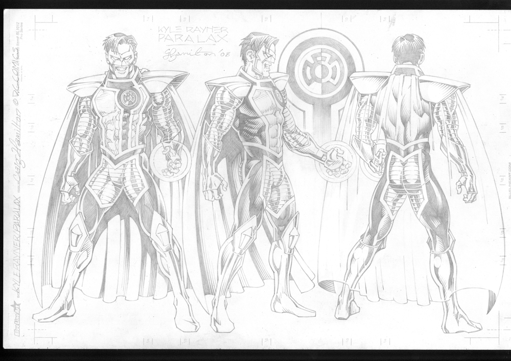 paralax dc comics style guide art in craig hamilton s black and
