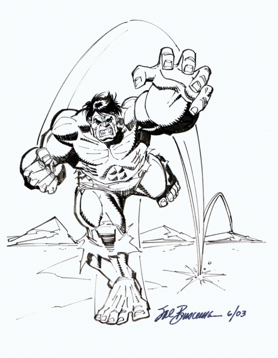 Sal Buscema Hulk Sketch In Jaume Vaquer Mestre S Sketches Comic Art