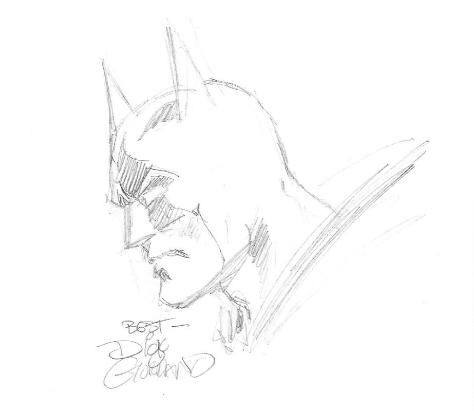 giordano batman sketch comic art