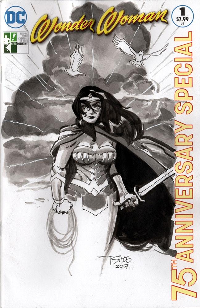 Hero Initiative Wonder Woman 100 Project by Tim Sale, in