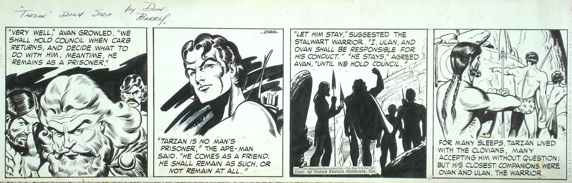 Tarzan Daily #2586 by Dan Barry Comic Art