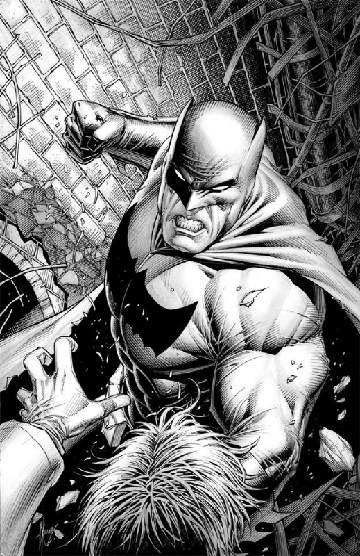 Batman The Dark Knight Cover By Dale Keown Sold Comic Art