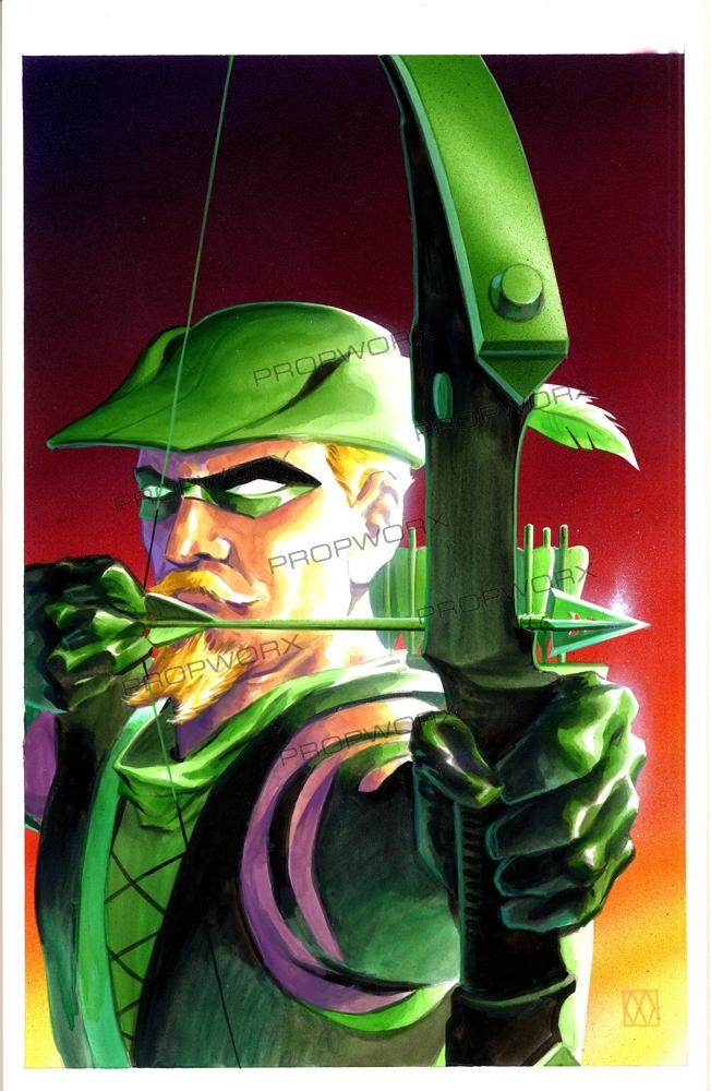 Green Arrow Quiver Trade Paperback Original Cover Art In Propworx