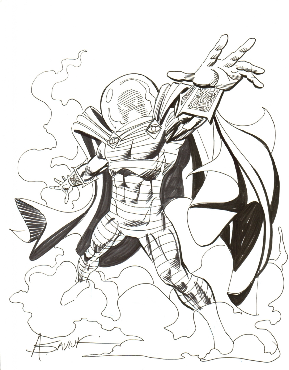 mysterio spiderman coloring pages - photo#5
