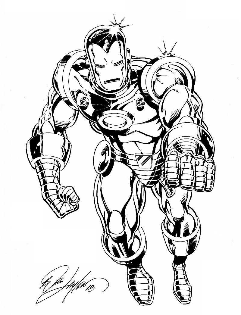 Classic Iron Man 9 X 11 Con Sketch In Bob Layton S Bob Layton