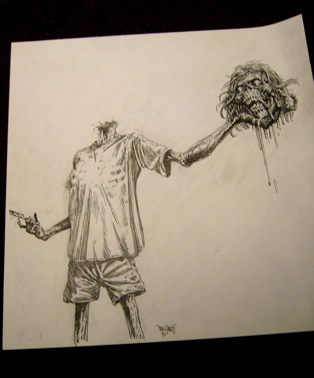 Gore shriek drawing zombie