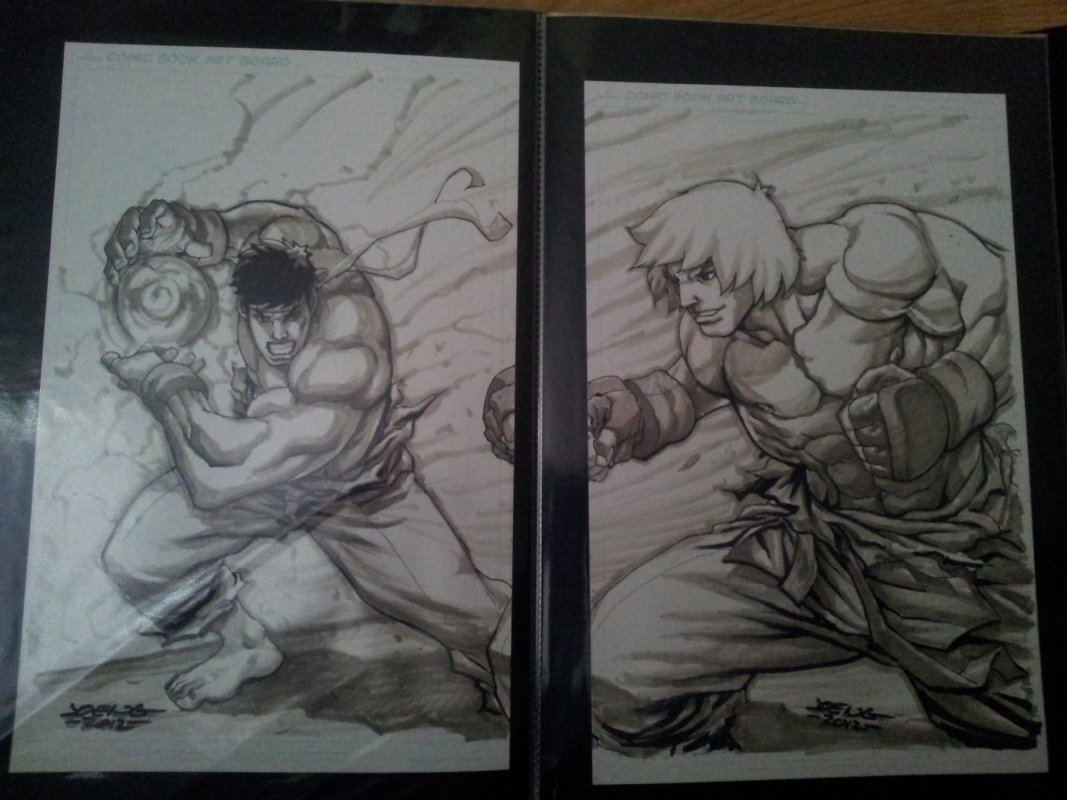 Ryu Vs Ken Joe Ng Double In Jason Ongs San Diego Comic Con