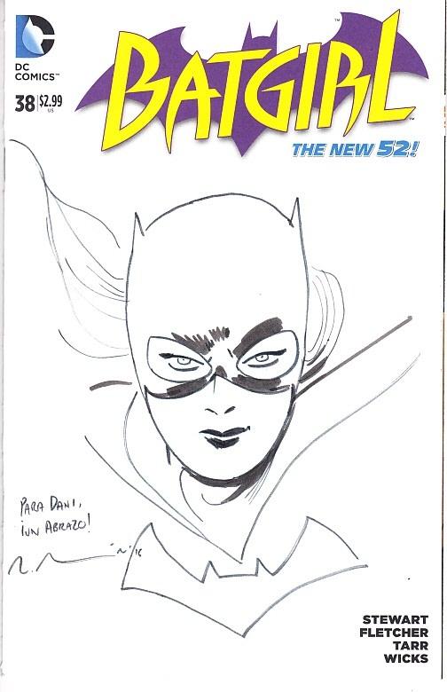 454153b9ffaa4 MARCOS MARTIN ----- BATGIRL, in STUDIO COMICS s BLANK COVERS Comic ...