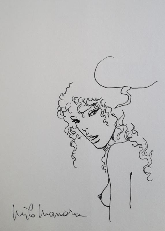 Milo Manara Disegno Originale Lucca Comics 2016 In Ernesto
