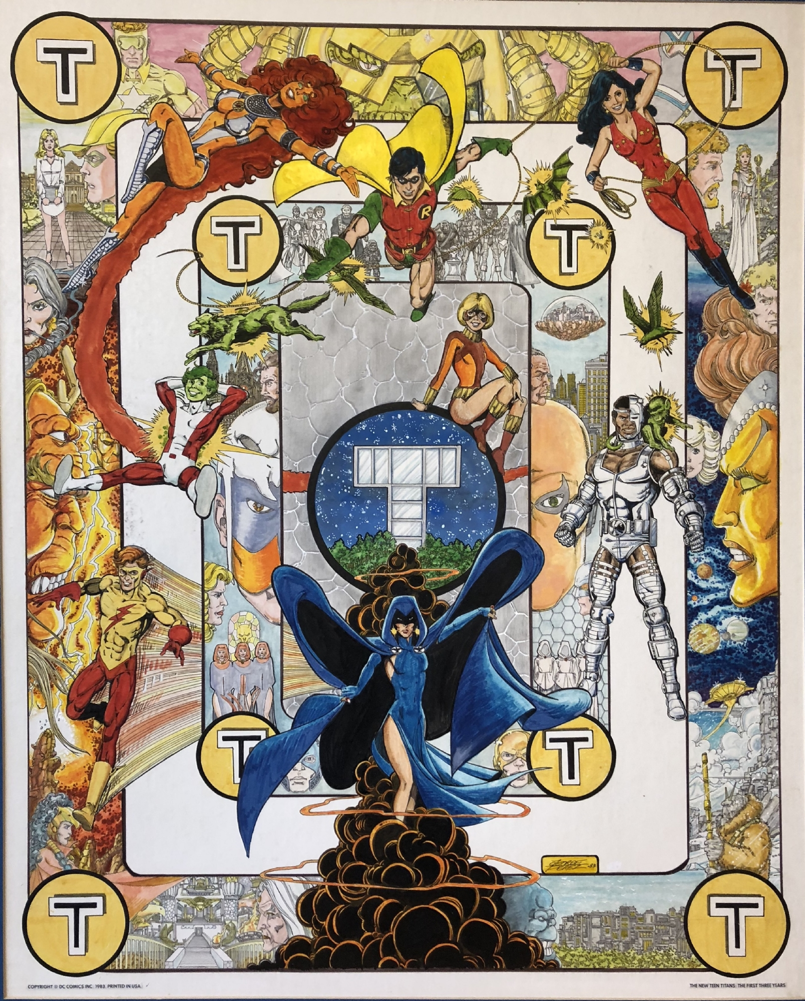 The New Teen Titans The First Three Years Poster Art, In -7824