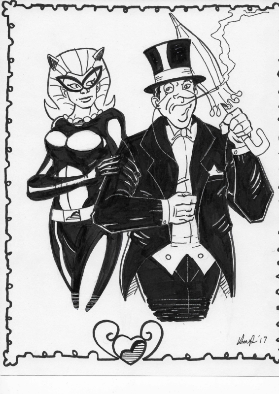 Catwoman And Penguin Wedding Invitation In Kelly Powers S My Art