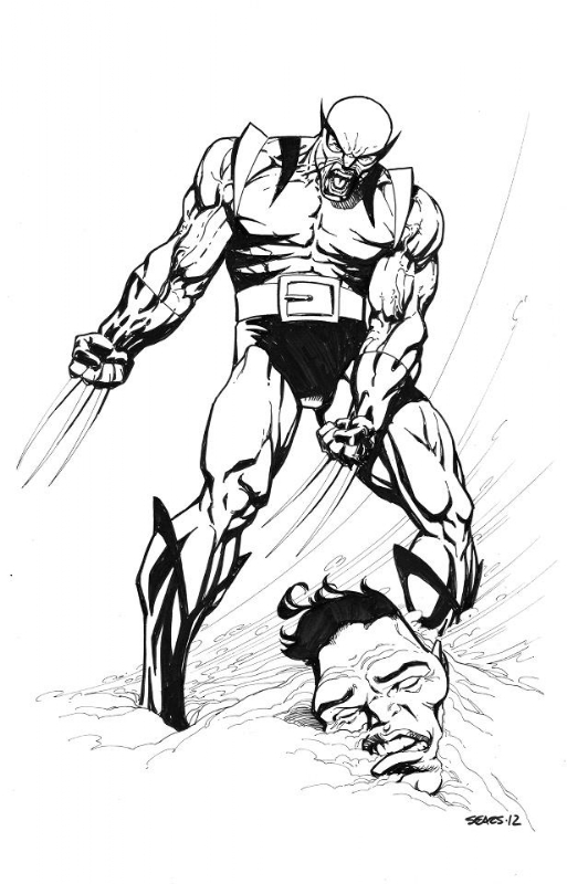 1a68320a813 Wolverine (First Appearance Uniform) by Bart Sears, in Joe F's ...