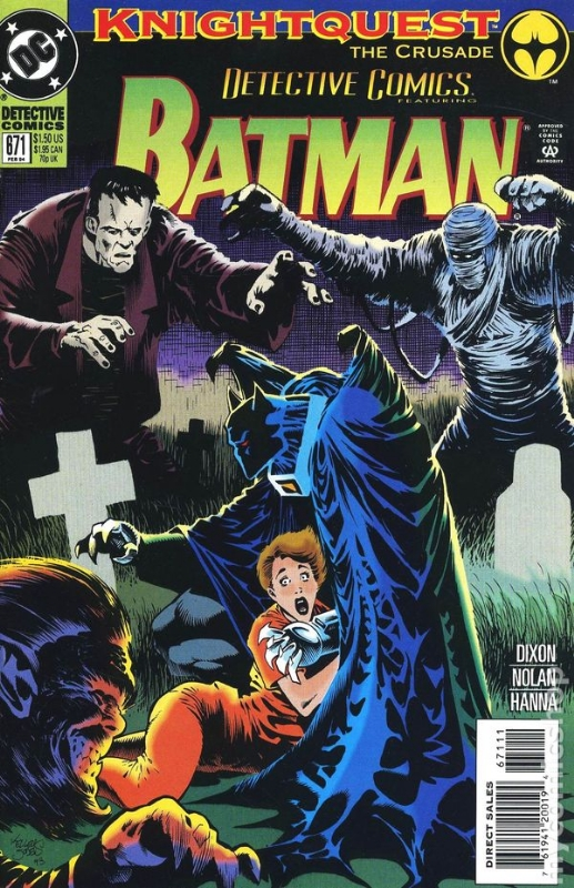 Detective Comics # 671 1994 Knightquest: The Crusade: The Cutting