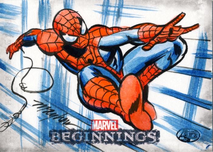Mike Mayhew Spider Man Marvel Beginnings 2 Ap Sketch Card In Mike