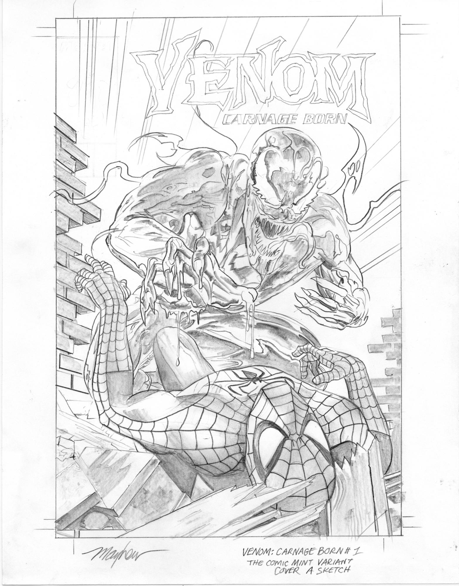 Mike Mayhew Original WEB OF VENOM: CARNAGE BORN #1 Cover