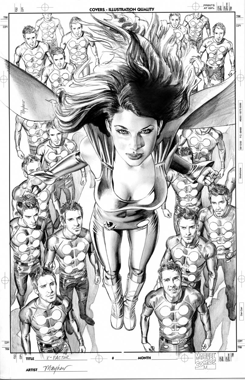 X factor 38 cover pencil art comic art